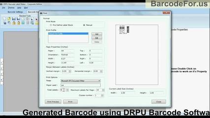 Adjust margin of barcode label