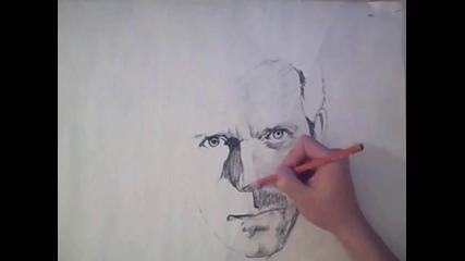 Най - добрия художник рисува само с молив д - р Хаус