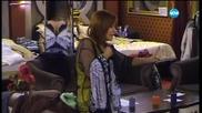 Кичка в спор с Иво, Кристина, Люси и Джино