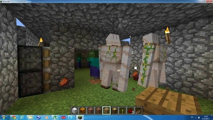 Minecraft|малка битка с зомбита