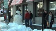 Скрита камера - Страшен снежен човек