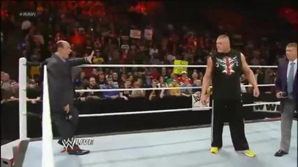 Завръщането на Брок Леснар 2013.