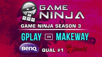 Game Ninja CS:GO #1 - Gplay vs Makeway
