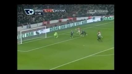 Aрсенал обърна Болтон и излезе на 1 - во място !!! Арсенал - Болтън 4:2