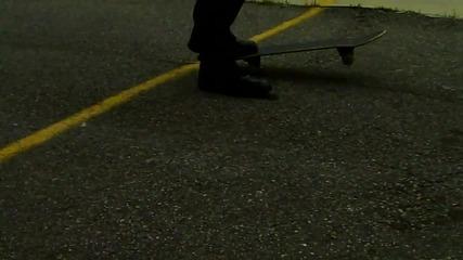 ченге прави трик със скейборд