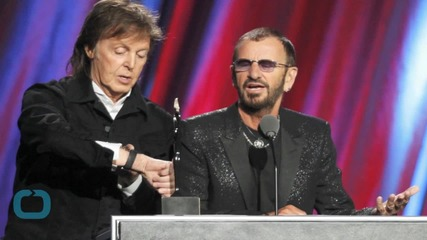 Ringo Starr Inducted Into Rock and Roll Hall of Fame by Fellow Beatle Paul McCartney
