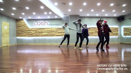 [behind] History(히스토리) What am I to you (난 너한테 뭐야) Choreography Practice(안무 연습) [eng Jpn Sub]