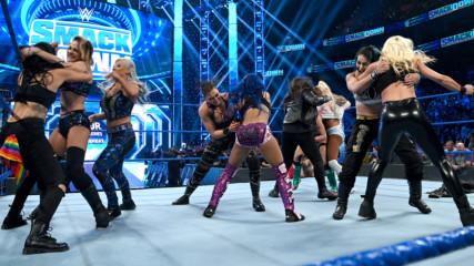 Sasha Banks, Nikki Cross, Carmella & Dana Brooke vs. Rhea Ripley, Mia Yim, Tegan Nox & Dakota Kai: SmackDown, Nov. 15, 2