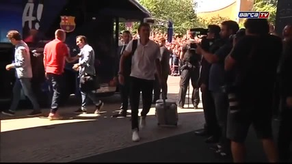 Вече сме в Берлин /champions League final- Fc Barcelona players arrive at hotel in Berlin