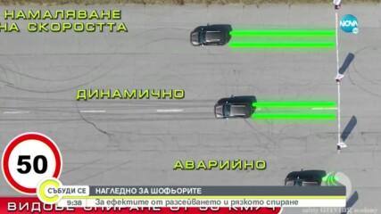 Какви са ефектите от разсейването и рязкото спиране при шофиране