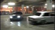 Дрифт в подземен паркинг на Сочи