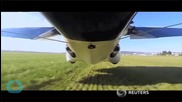 Flying Car Falls From the Sky, Parachutes to Safety