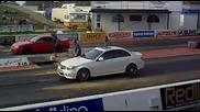 Mercedes C63 Amg срещу Nissan Skyline