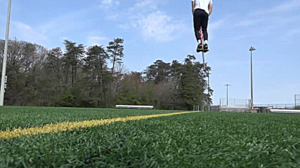 No highs no lows only pogos! Extreme jumper bounces over 3m high on new age pogo stick