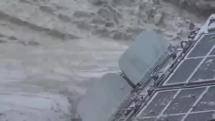 Руски танк закъсал в калта