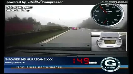 G-power Bmw M5 Hurricane Rr Reaches 357 кмч на автобане