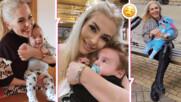 Една звездна мама най-сетне показа лицето на своето малко момченце, трогна с послание