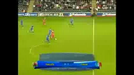 Уелс - Италия Младежи 2:1 Рамзи Победен Гол