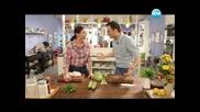 Царевичен кейк с мед, бобена салата, пангасиус със зеленчуци. - Бон Апети (03.04.2013)