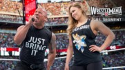 The Rock and Ronda Rousey confront The Authority: WrestleMania 31 (Full segment - WWE Network Exclusive)