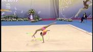Невяна Владинова - лента - Световна купа по художествена гимнастика - София 2015