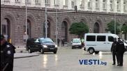 Засилено полицейско присъствие при пристигането на Дейвид Камерън в Министерски Съвет