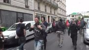 Коктейли Молотов и сигнални ракети в Париж