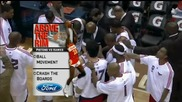 Heeeelarious: Josh Smith Gets Touchy Feely With Mike Bibby! (caressing All Up On Him)