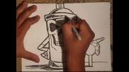 рисуване на спрей и скелет Wizard