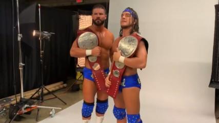 Bobby Roode & Chad Gable's Raw Tag Team Championship photoshoot: WWE.com Exclusive, Dec. 10, 2018