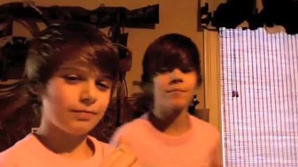 Justin Bieber and Cristian Beadles