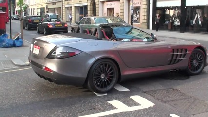 Mclaren Mercedes Slr 722s Roadster Driving Scenes in London