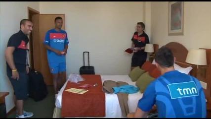 Роналдо и Нани се Лигавят в Хотел в Портогалия !