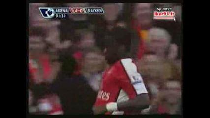 Арсенал 4:0 Блекбърн (14/02/2009 - Емануел Ебуе - дузпа)