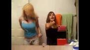 Two Girls Dancing Sexy