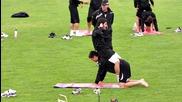 Ели Маркес с първа тренировка в Славия, белите заложиха на физика