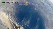 Мъж намерен вкопчен във варел плаващ в Средиземно море бе издърпан в хеликоптер