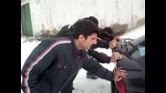 Дрифт в сняг - бутане