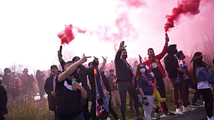 Spain: Atletico fans ecstatic outside home stadium ahead of Madrid derby