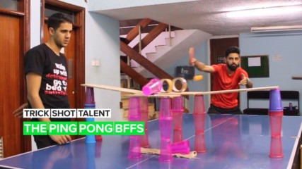 Trick Shot Talent: The duo making shocking ping pong videos