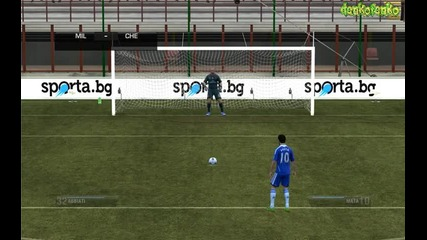 Fifa 12 ( Milan - Chelsea ) - дузпи !