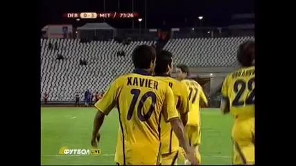 Бразилец забива гол на Дебрецен