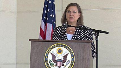 Macedonia: 'I'm leaving encouraged,' says US envoy Nuland after Skopje talks