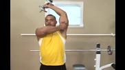 Бодибилдинг упражнения - Сгъване на дъмбел от стоеж за трицепс Vbox7