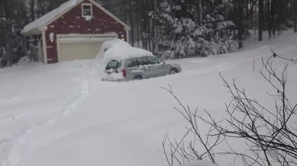 Subaru Forester в много дълбок сняг !!!