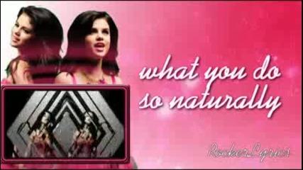 Selena Gomez - Naturally Lyrics on Screen