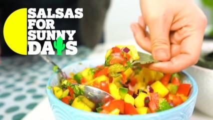 Salsas for Sunny Days: Spicy mango salsa