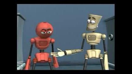 Роботи Се Бият За Ръката Си(забавна анимация)