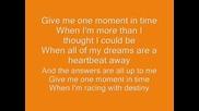 Whitney Houston - one moment in time lyrics