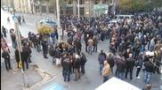 Протест на служители на МВР пред Министерството на финансите 2